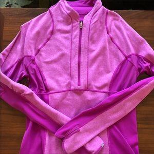 Lululemon pink half zip sweater